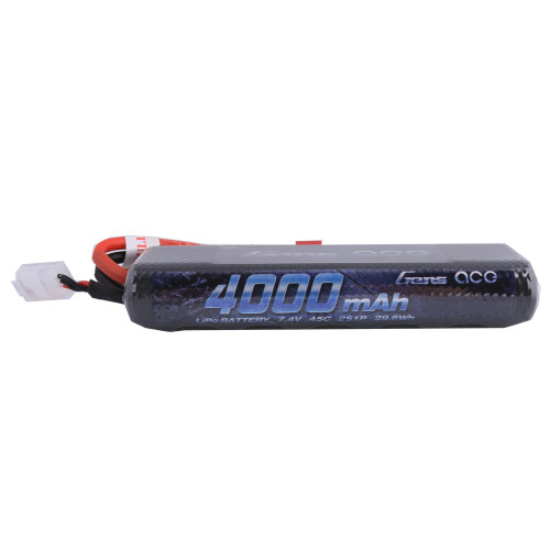 Gens ace 4000mAh 7.4V 45C 2S1P HardCase Lipo Battery Pack 8# with Deans Plug