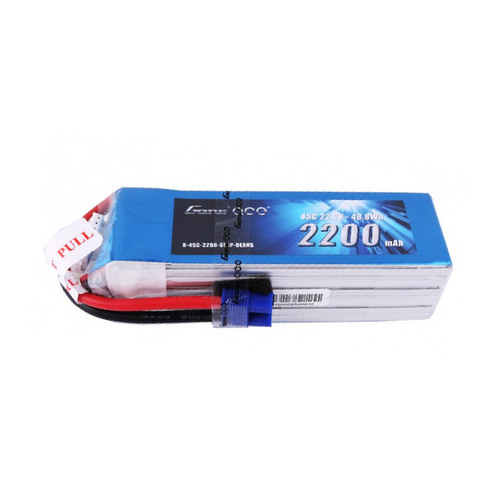 Gens ace 2200mAh 6S1P 22.2V 45C Lipo Battery Pack with EC3 Plug for FPV