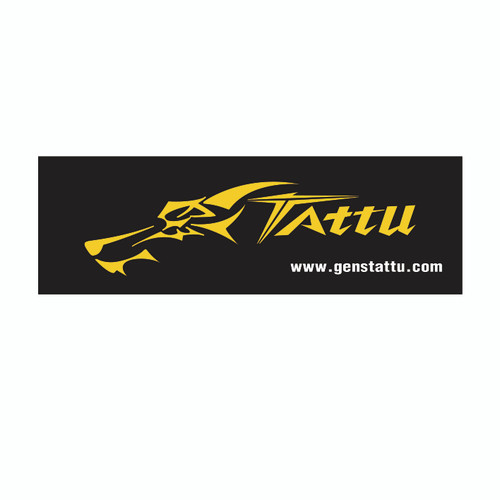 Tattu Banner Black and Yellow