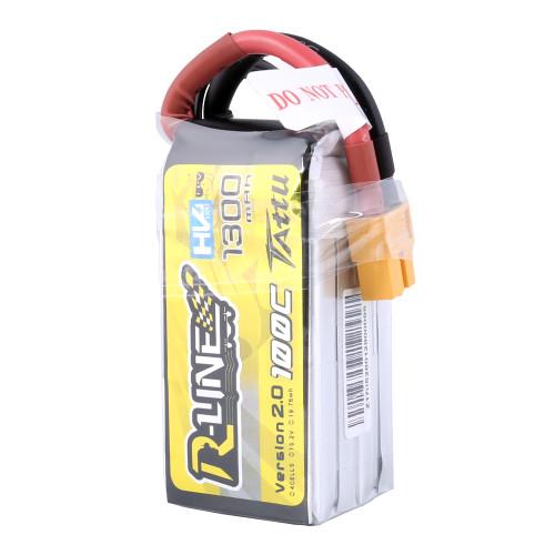 Tattu R-Line Version 2.0 1300mAh 100C 4S1P High Voltage Lipo Battery Pack with XT60 Plug