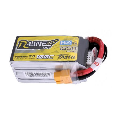 Tattu R-Line Version 2.0 1550mAh 100C 4S1P High Voltage Lipo Battery Pack with XT60 Plug