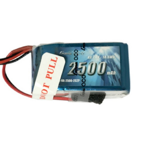 Gens Ace 2500mAh 7.4V Hump RX 2S2P Lipo Battery Pack with JR-3P Plug for RC Racing