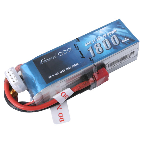 Gens Ace 11.1V 45C 3S 1800mAh Lipo Battery Pack with Deans Plug for RC FPV