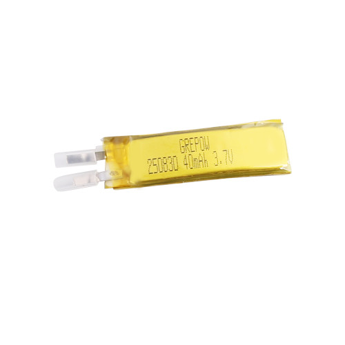 Grepow 3.7V 40mAh LiPo Curve Shaped Battery 2508030