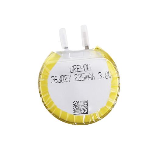 Grepow 3.8V 225mAh LiPo Round Shaped Battery 3630027