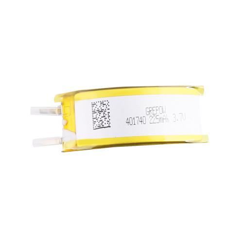 Grepow 3.7V 225mAh Curve LiPo Shaped Battery 4017040