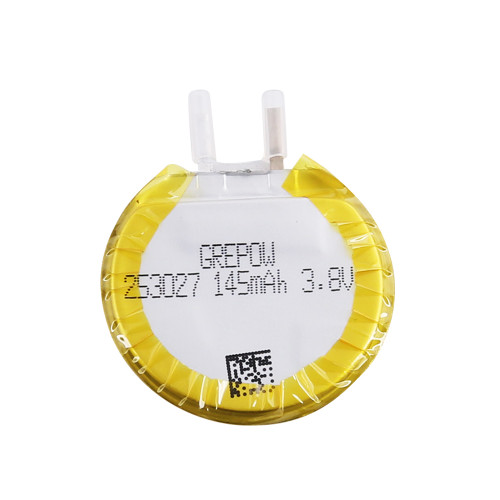 Grepow 3.8V 145mAh LiPo Round Shaped Battery 2530027