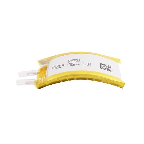 Grepow 3.8V 200mAh 1S1P LiPo Curve Shaped Battery 3020035