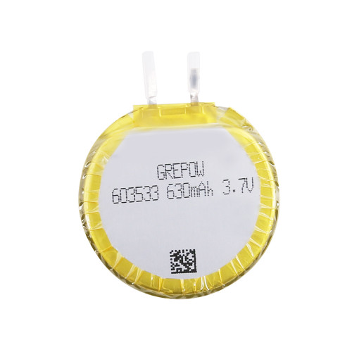 Grepow 3.7V 630mAh 1S1P LiPo Round Shaped Battery 6035033