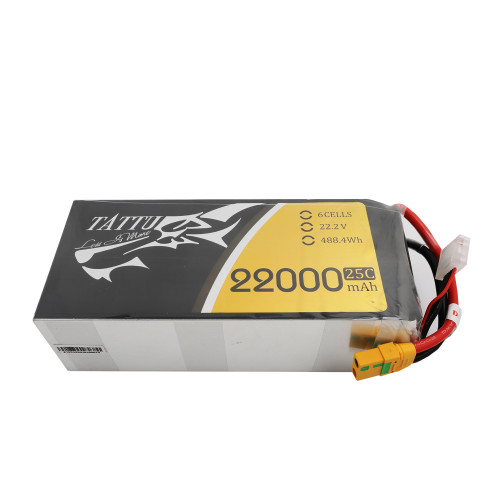 Tattu 22.2V 25C 6S 22000mAh Lipo Battery with XT90-S Plug for UAV