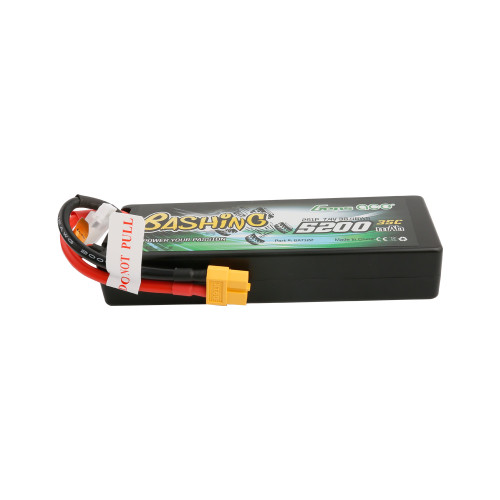 Gens ace Bashing Series 5200mAh 7.4V 2S1P 35C car Lipo Battery Pack Hardcase 24# with XT60 Plug
