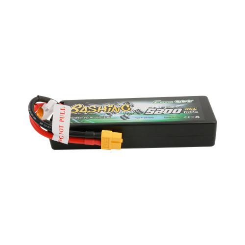 Gens ace Bashing Series 5200mAh 7.4V 2S1P 35C car Lipo Battery Pack Hardcase 24# with XT60 Plug