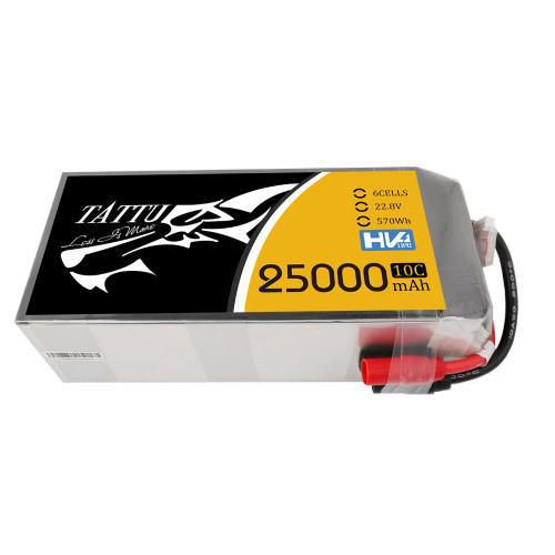 Tattu 22.8V 10C 6S 25000mAh Lipo Battery with AS150+AS150 Plug for UAV