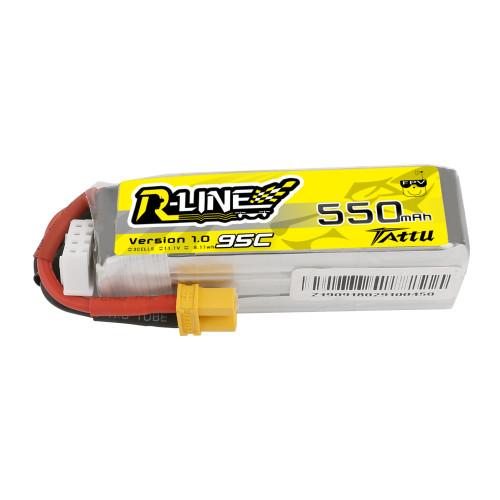 Tattu R-Line 550mAh 11.1V 95C 3S1P Lipo Battery Pack with XT30 Plug Product