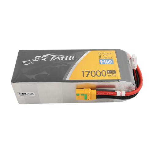Tattu 22.8V 15C 6S 17000mAh LiPo Battery with XT90-S Plug for UAV