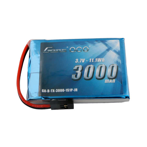 Gens ace 3000mAh 3.7V 1S1P TX Lipo Battery Pack with JR-3P Plug