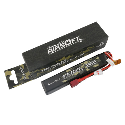 Gens ace 25C 1000mAh 3S1P 11.1V Airsoft Gun Battery with Deans Plug