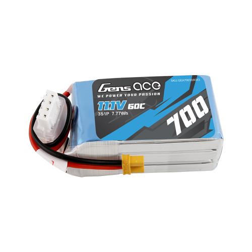 Gens ace 700mAh 11.1V 60C 3S1P Lipo Battery Pack with XT30 Plug