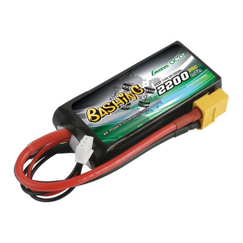 Gens ace Bashing 2200mAh 11.1V 35C 2S1P Lipo Battery Pack with XT60T Plug