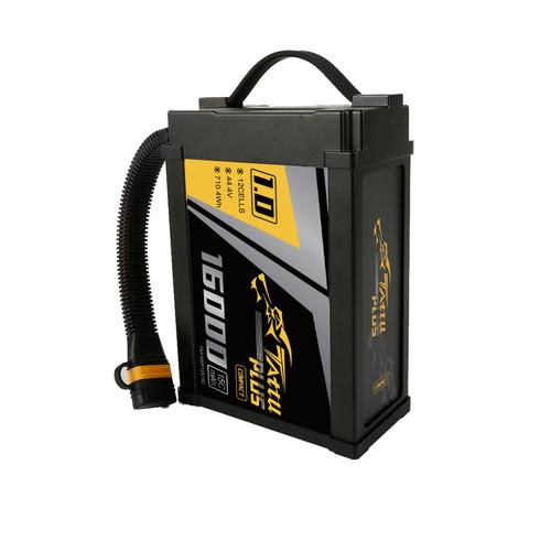 Tattu Plus 1.0 Compact Version 16000mAh 44.4V 15C 12S1P Lipo Smart Battery Pack with Tattu Plus 1.0 Compact Version 16000mAh 44.4V 15C 12S1P Lipo Smart Battery Pack with AS150U Plug