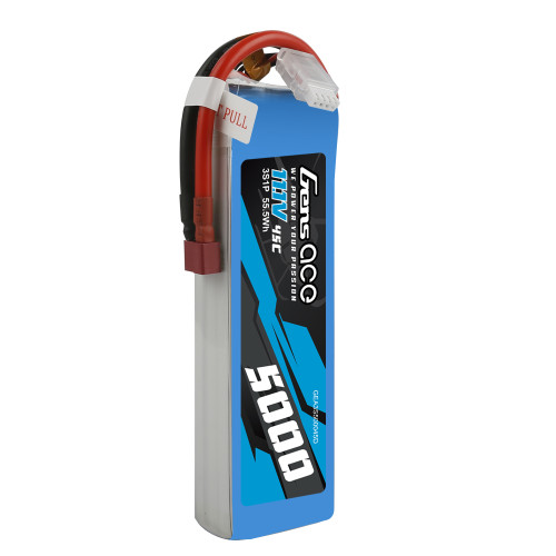 Gens Ace 5000mAh 3S1P 45C  11.1V Lipo Battery Pack with Deans Plug
