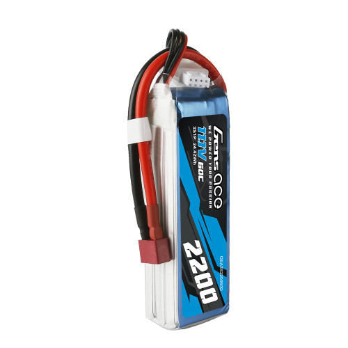 Gens ace 2200mAh  60C  11.1V 3S1P Lipo Battery Pack with Deans Plug