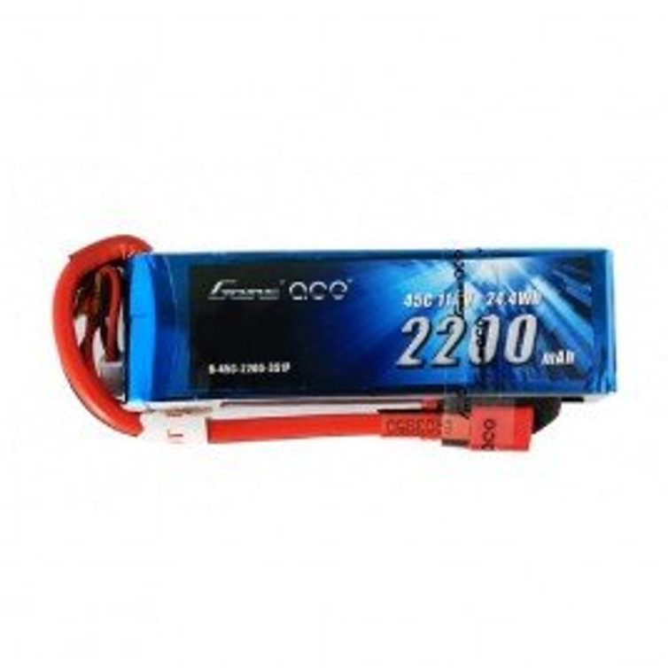 Gens ace 2200mAh 11.1V 45C 3S1P Lipo Battery Pack with Deans Plug