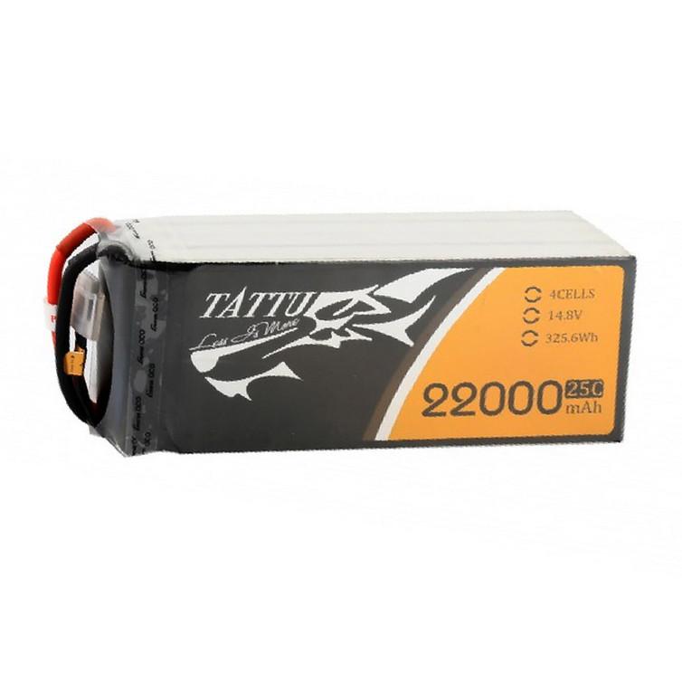 Tattu 22000mAh 14.8V 25C 4S1P Lipo Battery Pack without Plug for UAV