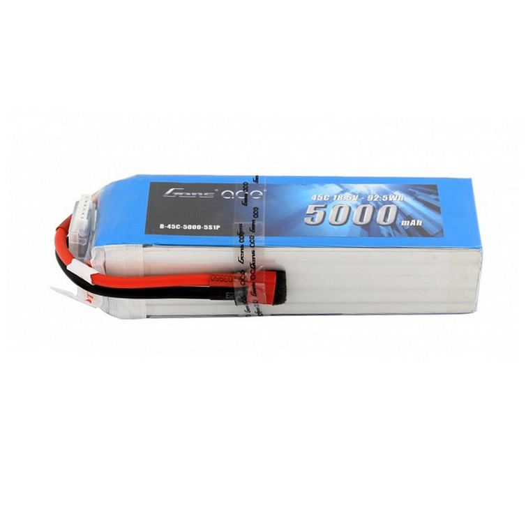 Gens ace 18.5V 45C 5S 5000mAh Lipo Battery Pack with Deans Plug for RC Racing