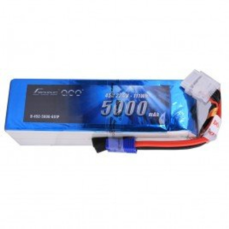 Gens ace 5000mAh 6S1P 22.2V 45C LiPo Battery Pack with EC5 Plug