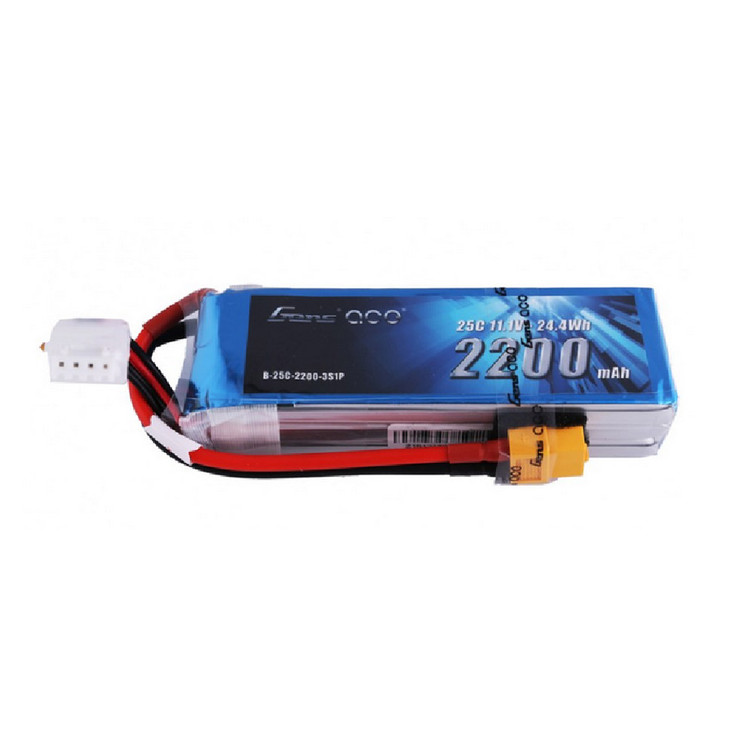 Gens ace 25C 2200mah 11.1V 3S Lipo Battery Pack with XT60 Plug Product
