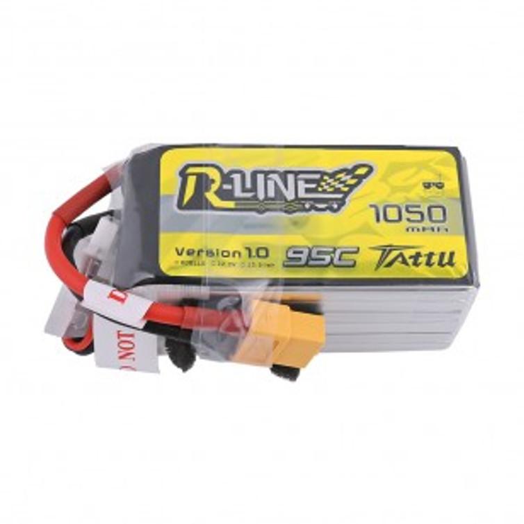 Tattu R-Line 1050mAh 95C 6S1P Lipo Battery Pack with XT60 Plug Product