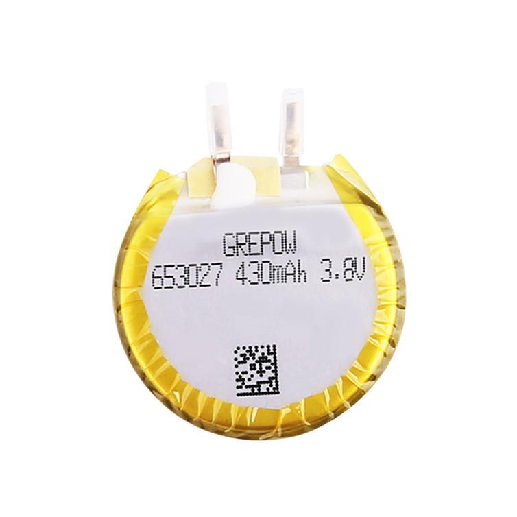 Grepow 3.8V 430mAh LiPo Round Shaped Battery 6530027