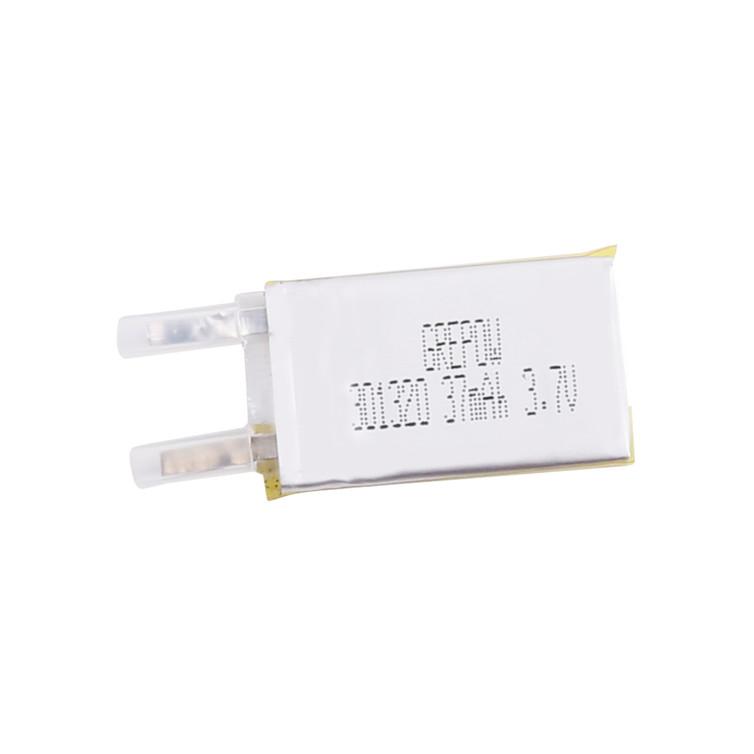 Grepow 3.7V 37mAh 1S LiPo Rectangle Shaped Battery 3013020