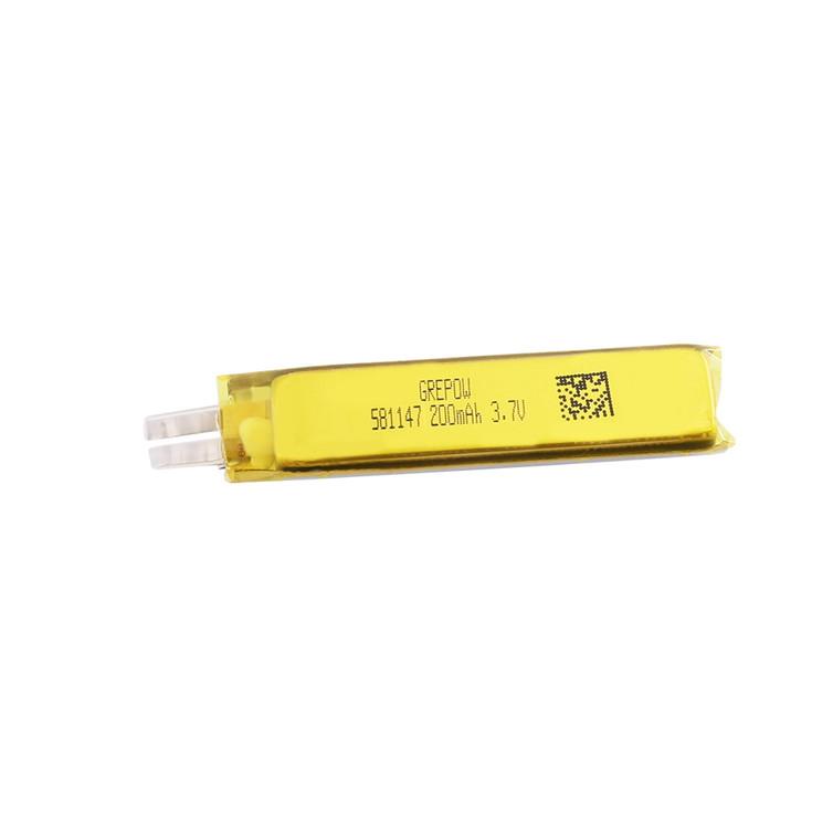 Grepow 3.7V 200mAh LiPo Rectangle Shaped Battery 5811047