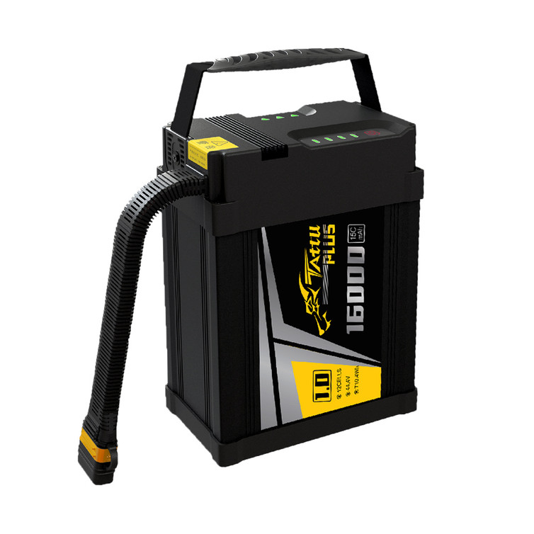 Tattu Plus 1.0 16000mAh 44.4V 15C 12S1P Lipo Smart Battery Pack with AS150U Plug