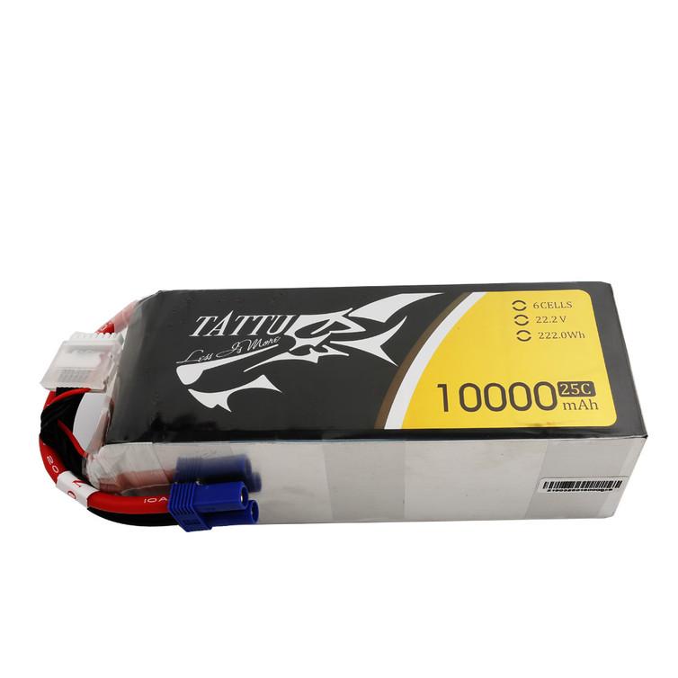 Tattu 22.2V 25C 6S 10000mAh Lipo Battery Pack with EC5 Plug for UAV Drone