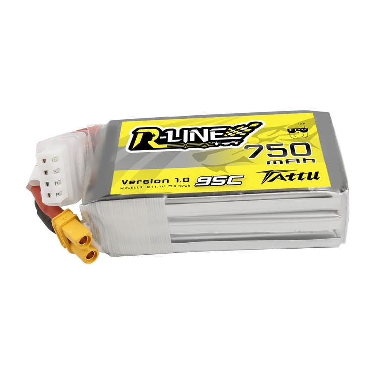 Tattu R-Line 750mAh 11.1V 95C 3S1P Lipo Battery Pack with XT30 Plug