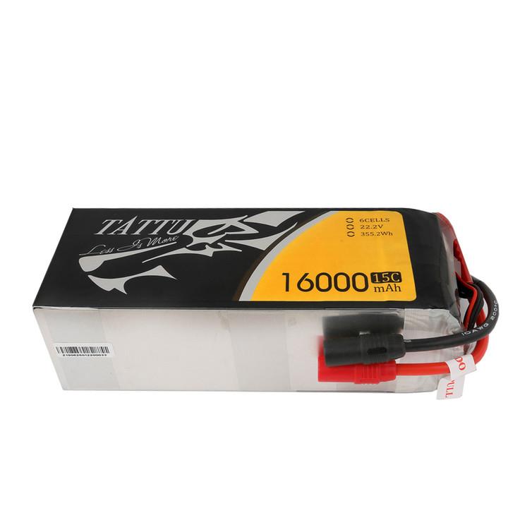 Tattu 16000mAh 6S1P 15C Lipo Battery Pack with AS150+AS150 Plug