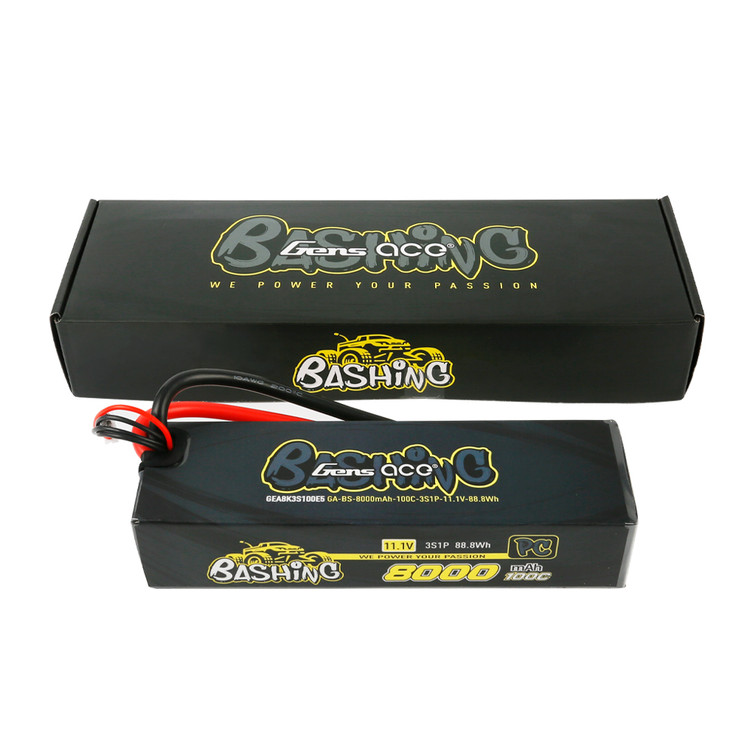 Gens ace Bashing Pro 11.1V 100C 3S 8000mah Lipo Battery Pack with EC5 Plug Box