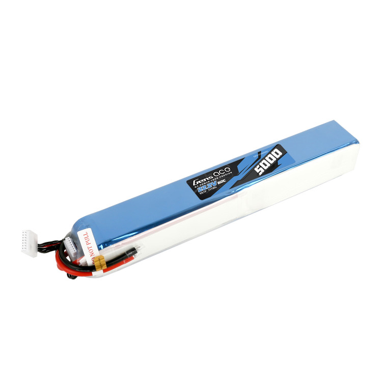 Gens ace 5000mAh 44.4V 12S1P 60C Lipo Battery Pack with no Plug