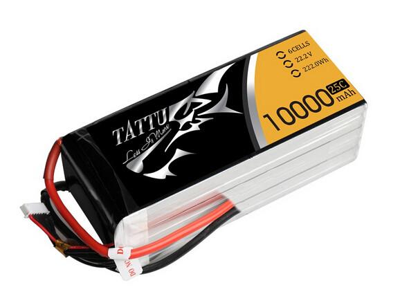 Tattu 10000mah 6s UAV lipo battery