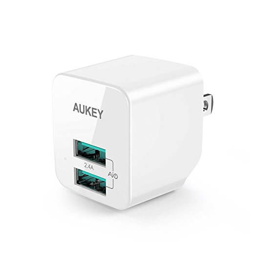 AUKEY ULTRA COMPACT Dual Port 2.4A USB Wall Charger