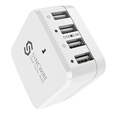 Syncwire 34W 6.8A 4-Port Fast USB Wall Charger