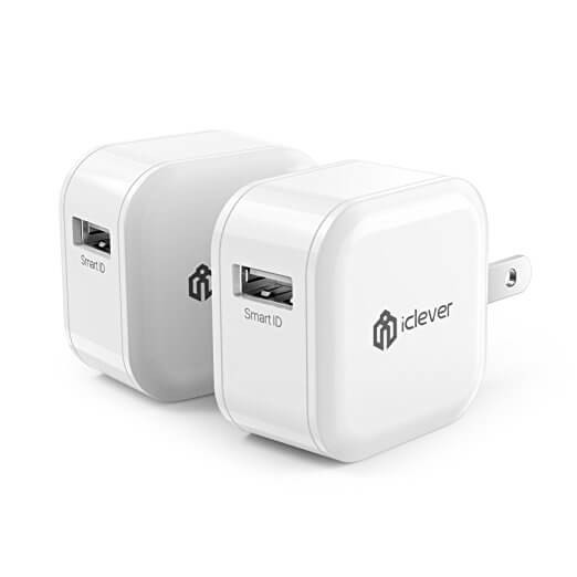 iClever Boostcube 12W 2.4A Fast USB Wall Charger
