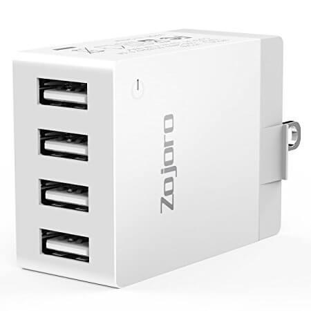 Zojoro 40W 4-Port Fast USB Wall Charger