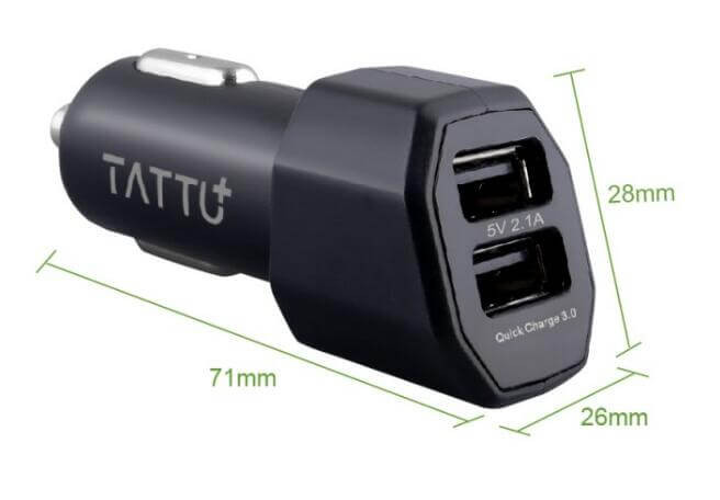 Double Ports Quick Charge 3.0 Car Charger