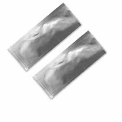 Silver Heat-Sealable Portable Open-Top Mylar Single-Serving Sample Packets
