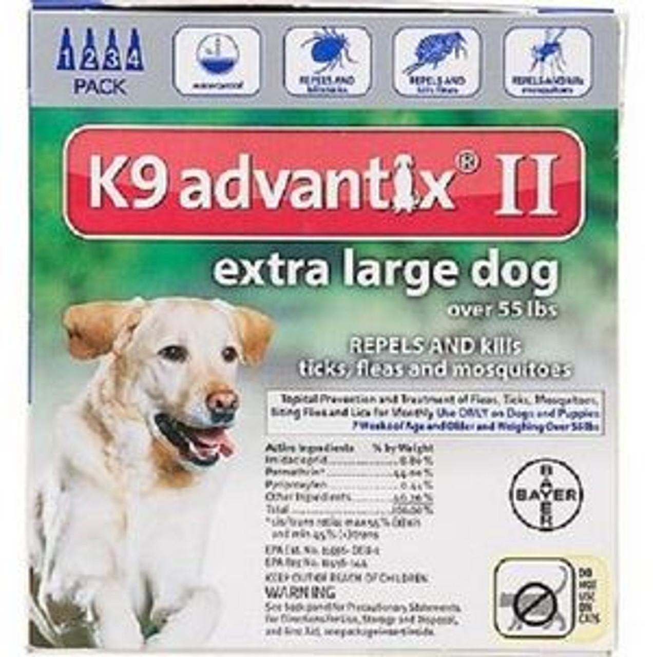 K9 Advantix II Extra Large Dog Flea Tick Treatment