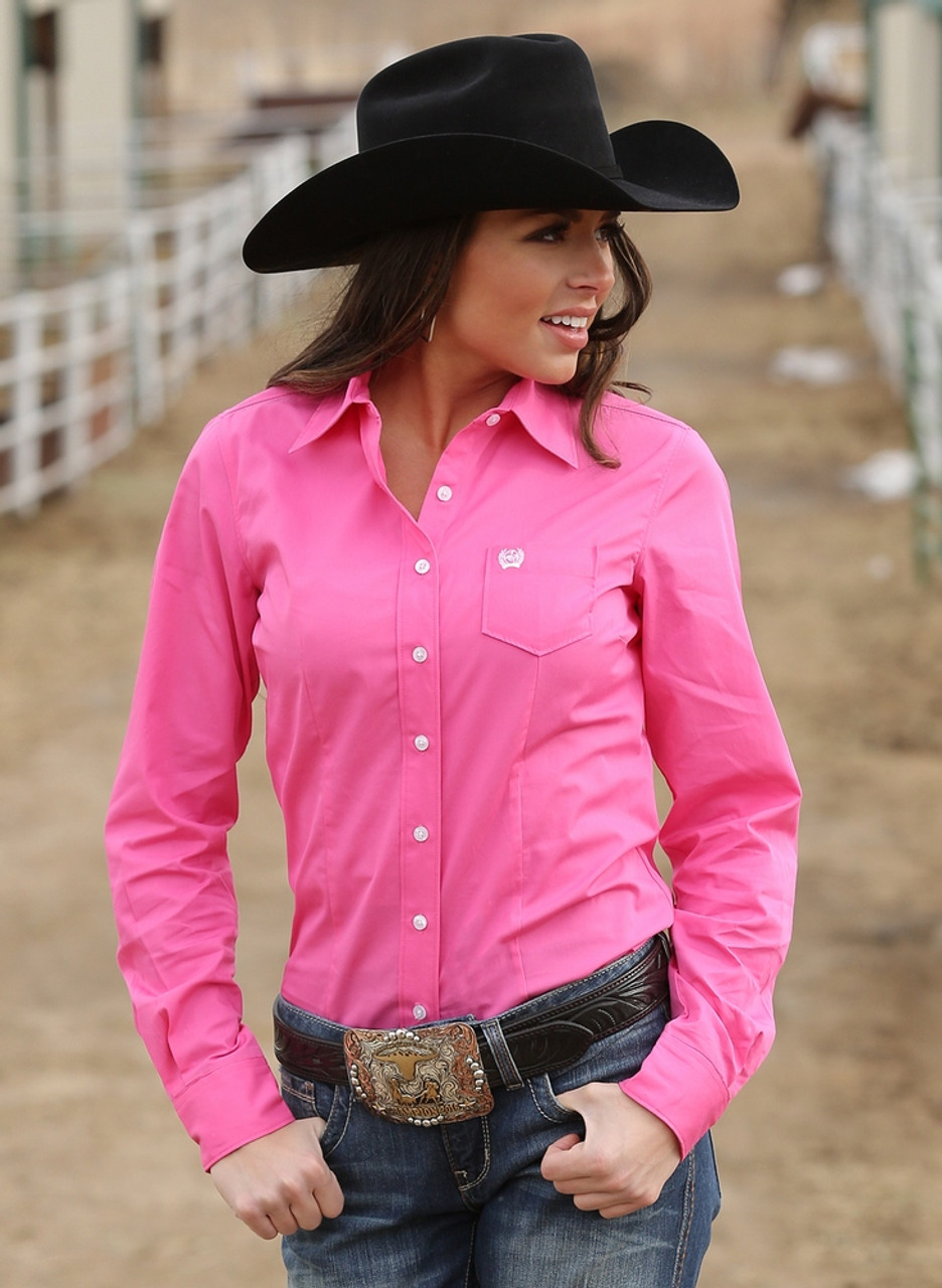 8dfcc0281f Cinch Solid Pink Arena Shirt